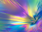 3d rendering, pastel holographic foil, abstract rainbow background, vibrant metallic texture, fashion surface, reflection, texture