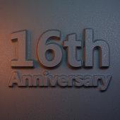 3d rendering relievo anniversary 16 th