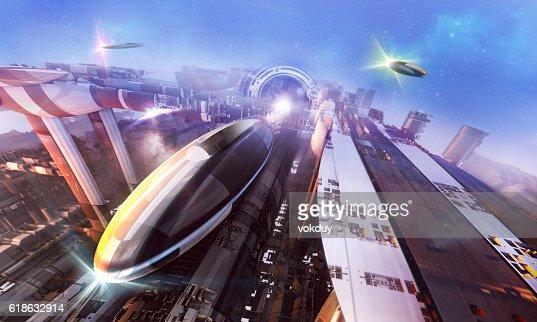 3d rendering - Spaceships : Stock Photo