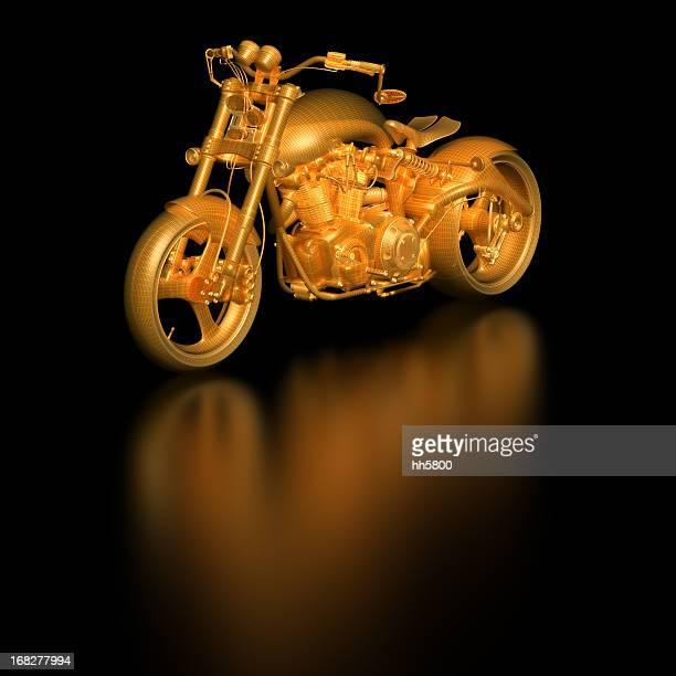 3d Sketch Blueprint Motorcycle