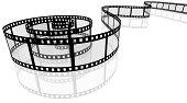 3d spiral movie filmstrip