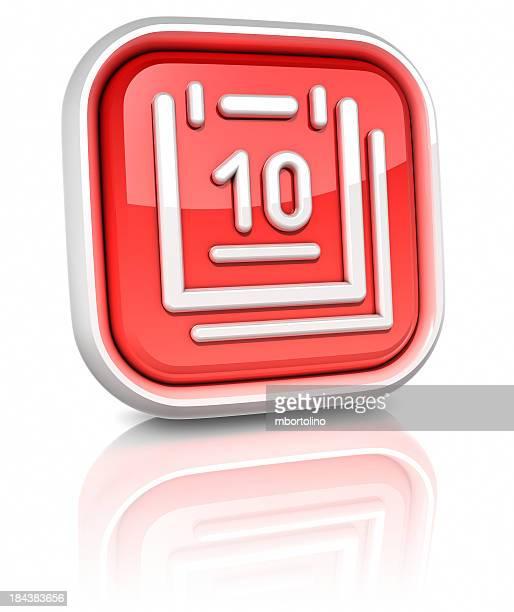3d square icons - calendar