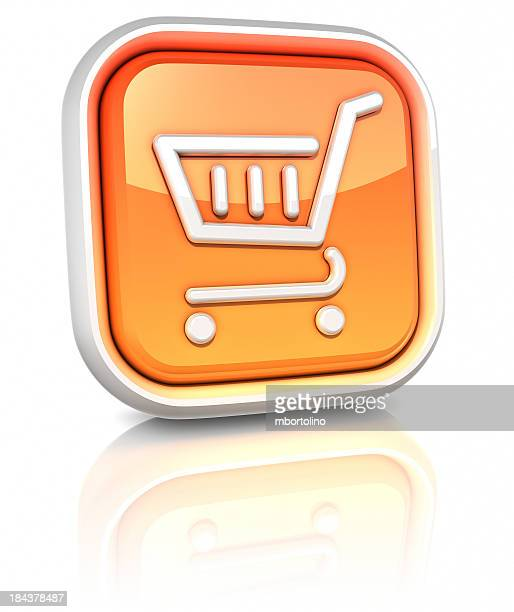 3d square icons - shopping cart