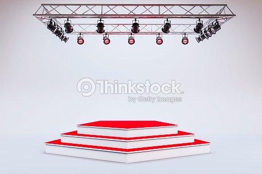 3d template of blank empty podium stage stock photo thinkstock