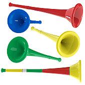 3d vuvuzela horns