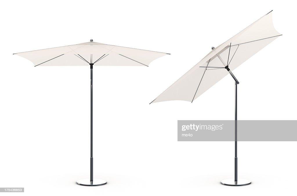 3d White beach umbrella