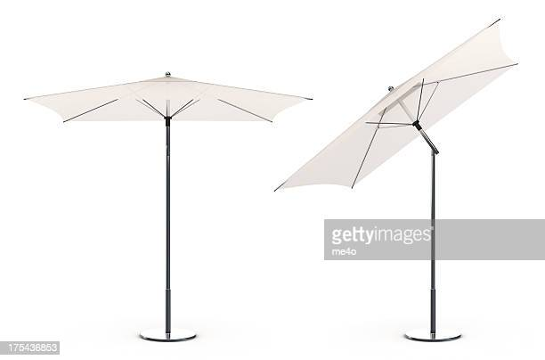 3d White beach umbrella