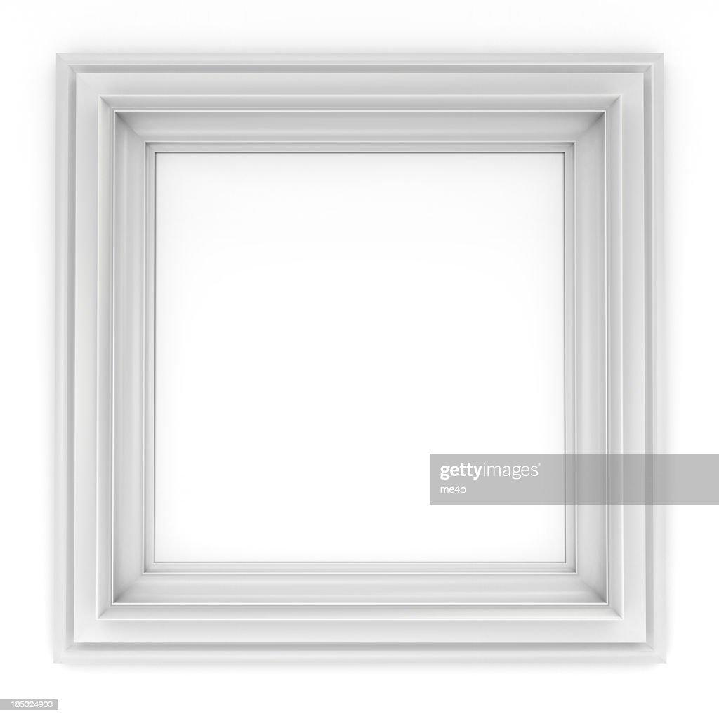 3d white classical frame