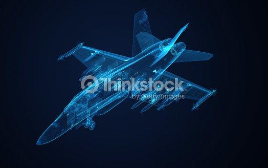 3 D Drahtmodell Skizze F18 Hornet Stock-Foto   Thinkstock