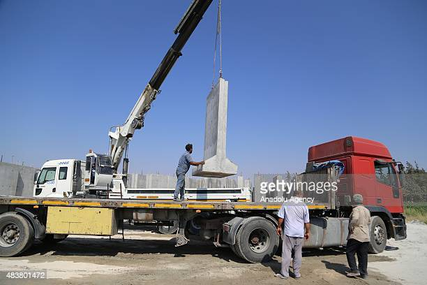 A 3meter high and 2meter width wall has been built along the TurkishSyrian borderline to prevent smuggling illegal migration and possible attacks...