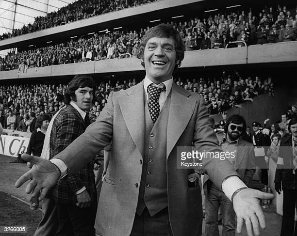 The manager of Southampton Football Club Laurie McMenemy after his team beat Crystal Palace in the FA Cup SemiFinal at Stamford Bridge