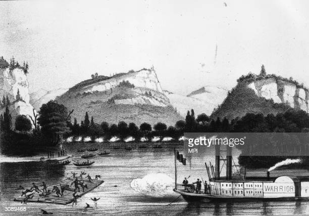 The Battle of Bad Axe in which a multitude of Native Americans were killed as they tried to cross the Mississippi into Iowa from which they had...