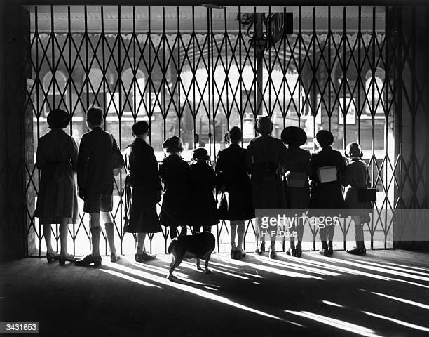 Anxious watchers at the barrier of Ipswich railway station waiting for the LNER Evacuation Special train to arrive bringing evacuees to safety from...