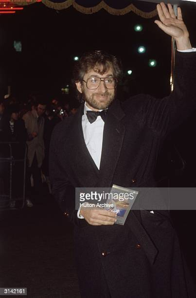 Successful director Steven Spielberg attends the premiere of his latest film 'Back to the Future' for which he acted as executive producer