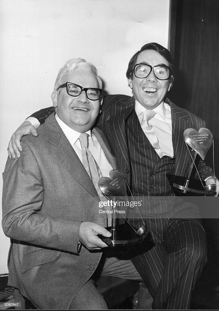 British comedians Ronnie Corbett and Ronnie Barker who were awarded the Joint Show Business Personalities of 1980 by the Variety Club of Great Britain