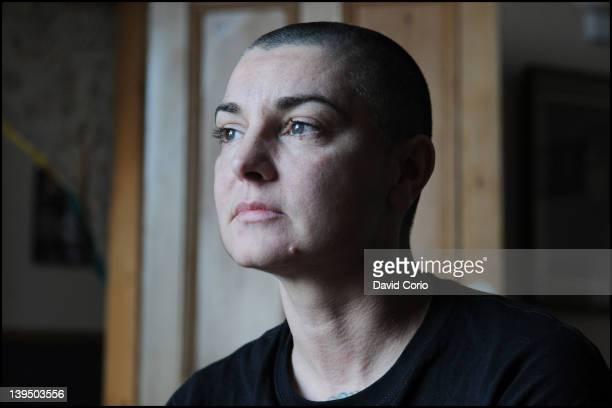 Irish singer and songwriter Sinead O'Connor posed at her home in County Wicklow Republic Of Ireland on 3rd February 2012