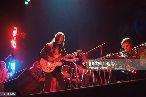 Poco perform on stage at the Rainbow Theatre in London 3rd February 1972 Richie Furay Rusty Young