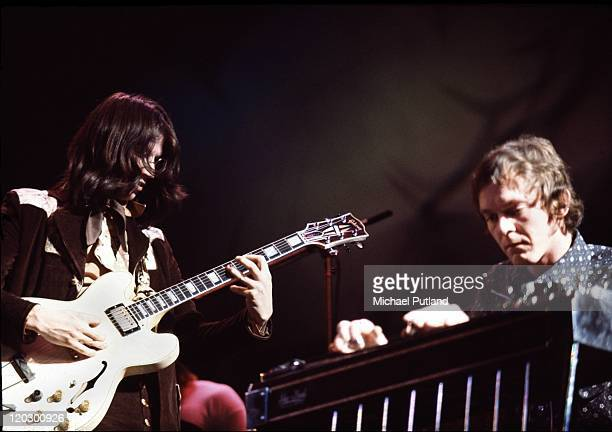 Poco perform on stage at the Rainbow Theatre London 3rd February 1972 LR Richie Furay Rusty Young