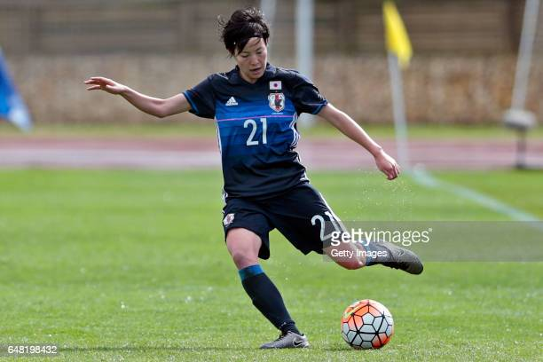 Hikaru Kitagawa of Japan Women during the match between Japan v Iceland Women's Algarve Cup on March 3rd 2017 in Parchal Portugal