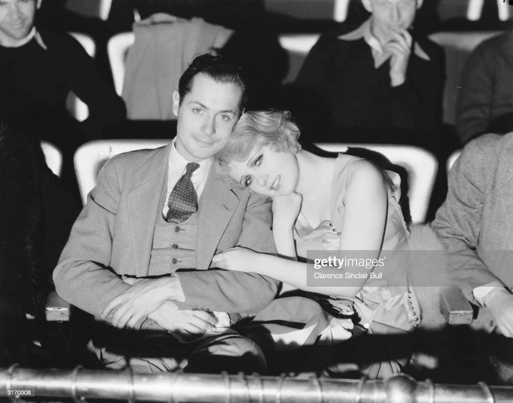 American actor Robert Montgomery attends a screening with actress Anita Page The two costarred in three movies in 1930 'War Nurse' 'Our Blushing...