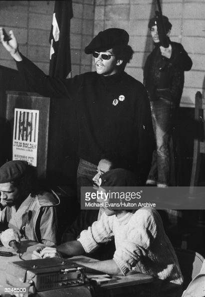 Pablo Guzman Minister of Information for the Puerto Rican activist group Young Lords gestures at a news conference in the First Spanish United...