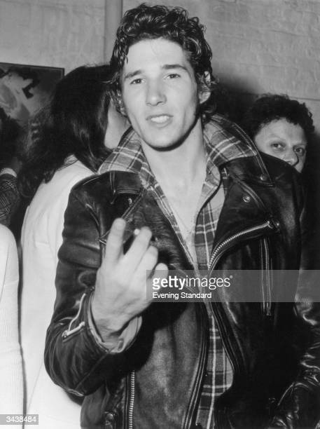 American actor Richard Gere at a party at Rock Studio in the King's Road London Gere is currently starring in the London stage production of 'Grease'