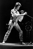 David Bowie on stage at the Hammersmith Odeon in London at the last of the Ziggy Stardust concerts