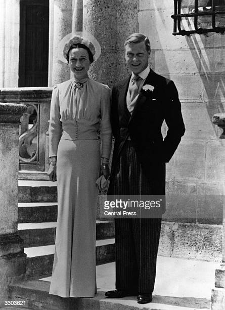 Duke of Windsor and Mrs Wallis Simpson on their wedding day at Chateau de Conde Monts near Tours France