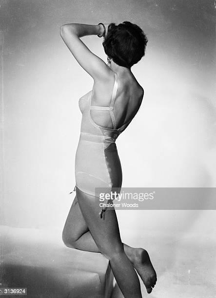 A woman wearing a corset