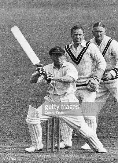 CHECK HIRES IF SUPPLYING DIGITALLY Wisden Cricketer of the Year 1927 Australian wicketkeeper Bert Oldfield in bat against Worcester