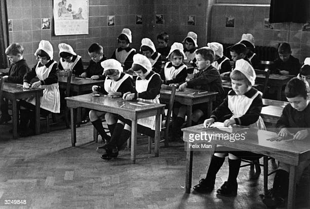 A scene from the foundling hospital Original Publication Picture Post 444 Foundling Hospital pub 1941