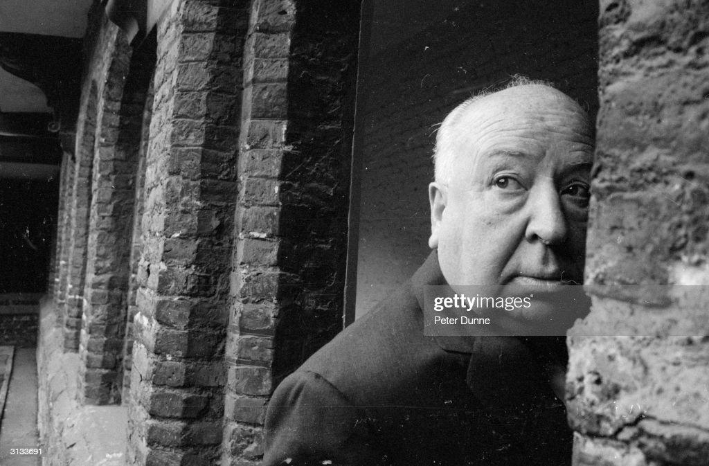 British film director Alfred Hitchcock (1899 - 1980) in Cambridge.