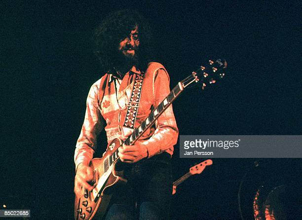 Jimmy Page from Led Zeppelin performs live on stage at KB Hallen in Copenhagen Denmark on 3rd May 1971