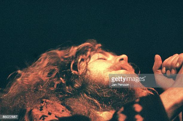 Robert Plant from Led Zeppelin performs live on stage at KB Hallen in Copenhagen Denmark on 3rd May 1971