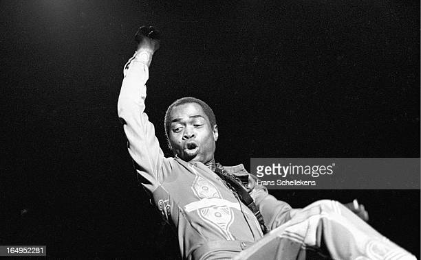 Nigerian musician and composer Fela Kuti performs at Vredenburg in Utrecht Netherlands on 3rd November 1988