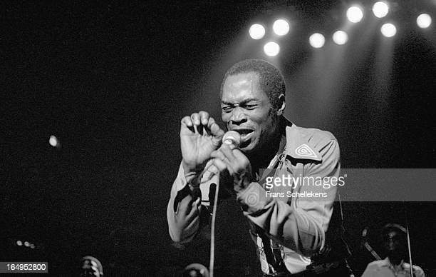 Nigerian musician and composer Fela Kuti performs at Vredenburg in Utrecht Netherlands on 3rd November 1988