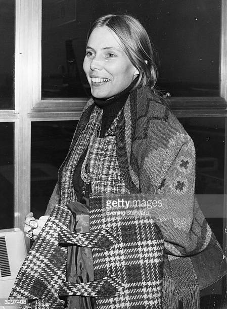 Canadian singersongwriter Joni Mitchell at Los Angeles Airport