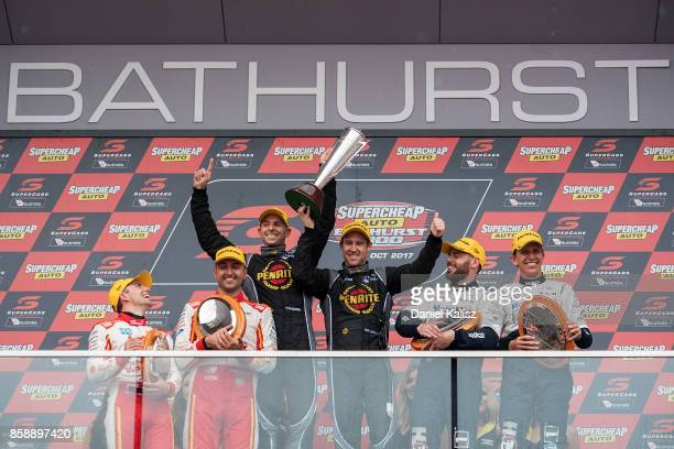 3rd place Tony D'Alberto driver of the Shell VPower Racing Team Ford Falcon FGX Fabian Coulthard driver of the Shell VPower Racing Team Ford Falcon...