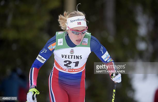 3rd placed Ragnhild Haga of Norway during Ladies' 14 km Sprint Classic Finals at FIS Ruka Nordic 2015 in Kuusamo Northern Finland on November 27 2015...