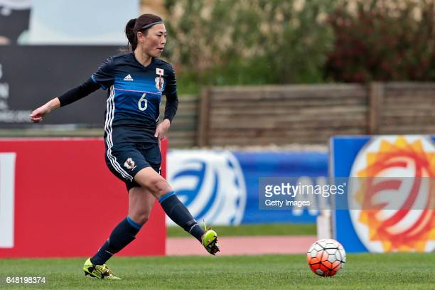 Rumi Utsugi of Japan Women during the match between Japan v Iceland Women's Algarve Cup on March 3rd 2017 in Parchal Portugal