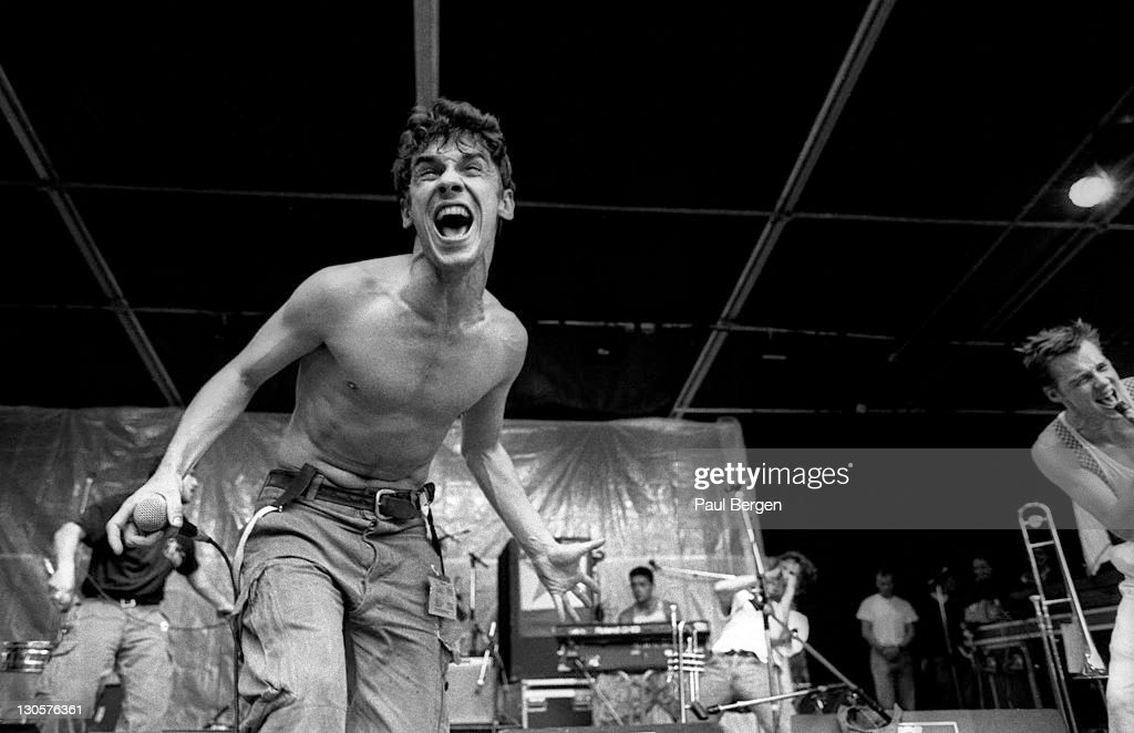 Lead singer Manu Chao from French band Mano Negra performs live on stage at the Metropolis festival in Rotterdam, Netherlands on 3rd September 1989.