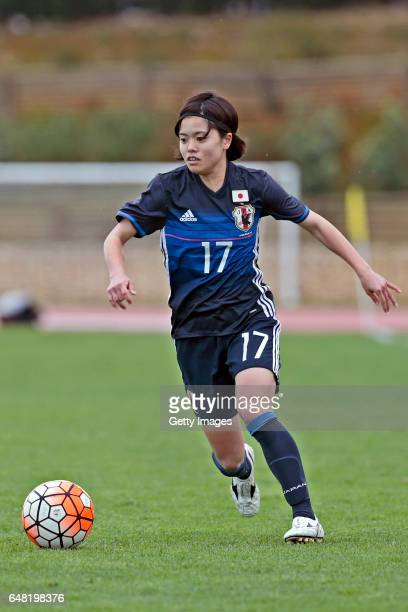 Yui Hasegawa of Japan Women during the match between Japan v Iceland Women's Algarve Cup on March 3rd 2017 in Parchal Portugal