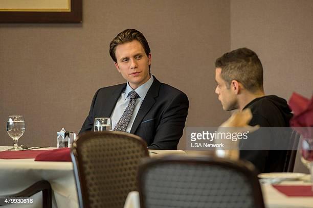 MR ROBOT '3xp10itswmv' Episode 105 Pictured Martin Wallstrom as Tyrell Wellick Rami Malek as Elliot Alderson