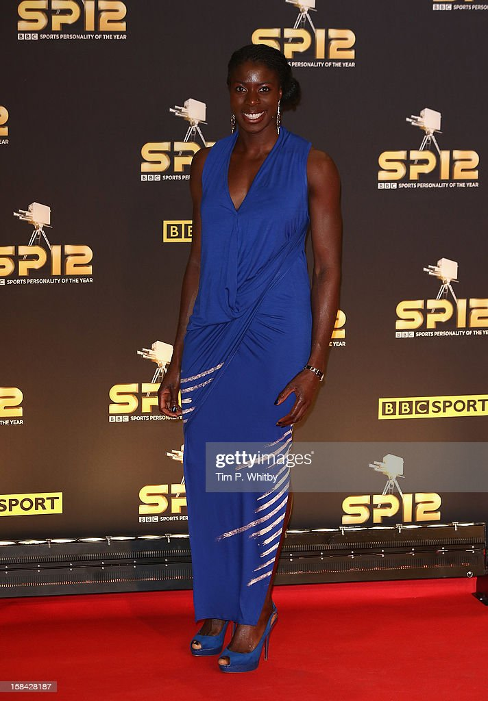 400m hurdler Christine Ohuruogu attends the BBC Sports Personality of the Year Awards at ExCeL on December 16, 2012 in London, England.