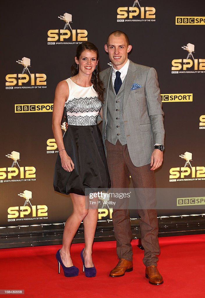 400m hurdler Dai Greene and Sian Davies attend the BBC Sports Personality of the Year Awards at ExCeL on December 16, 2012 in London, England.