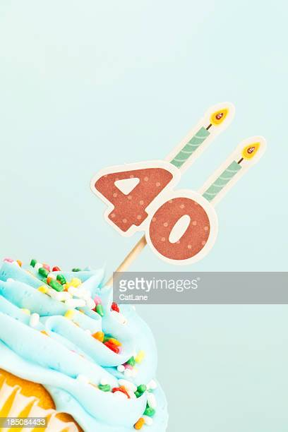 40. Geburtstag Cupcake