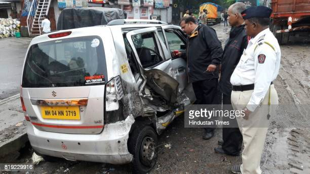 A 40yearold container driver died after he rammed his vehicle into a stationary truck while injuring the driver of a four wheeler at Thane on July 19...