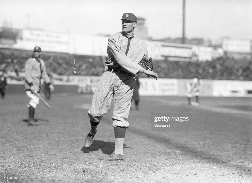 4/12/1916New York NY Walter Johnson pitches for the Washington Senators in the season opener at the Polo Grounds