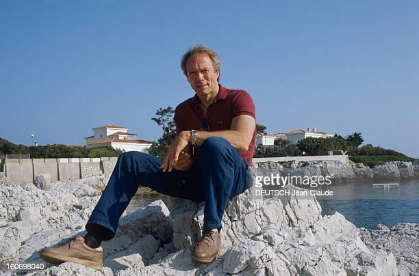 41st Cannes Film Festival 1988 Rendezvous With Clint Eastwood Le 41ème Festival de CANNES se déroule du 11 au 23 mai attitude souriante de Clint...