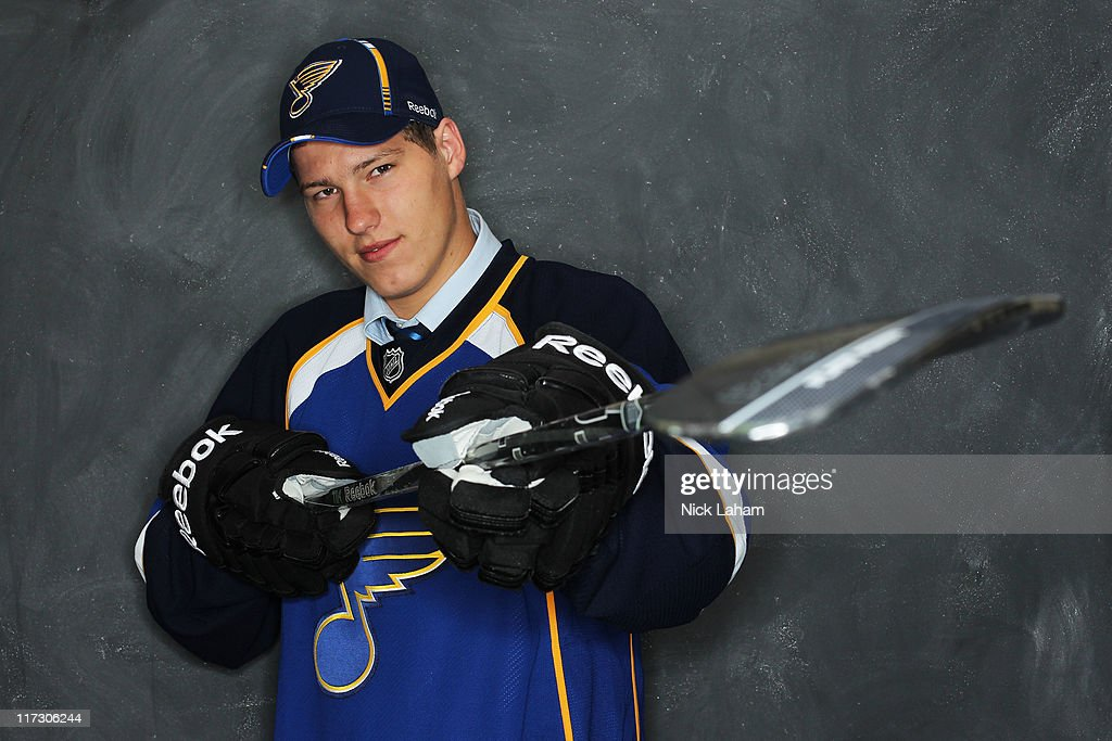 41st overall pick Dmitri Jaskin by the St. Louis Blues poses for a photo portrait during day two of the 2011 NHL Entry Draft at Xcel Energy Center on June 25, 2011 in St Paul, Minnesota.